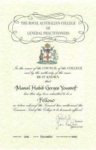 Dr Manal Fellowship Certificate